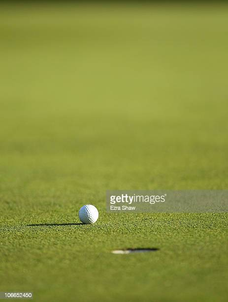 A generic shot of a golf ball on the green during the final round of the Charles Schwab Cup Championship at Harding Park Golf Course on November 7...