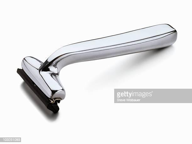 Generic silver chrome safety razor