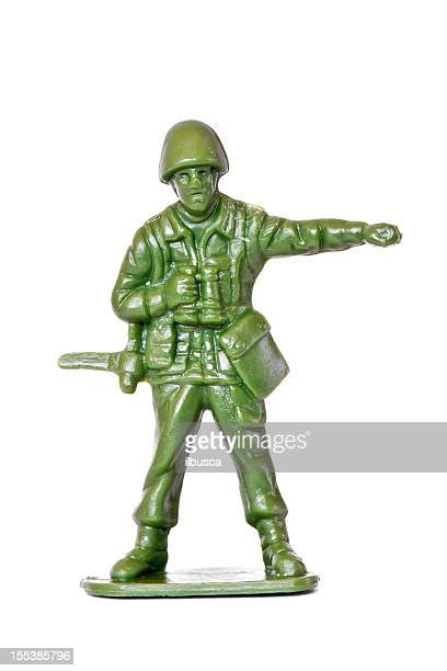 Generic toy soldier isolated on white