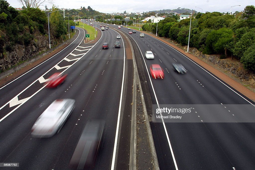 Generic traffic image. Traffic flows on the north : News Photo