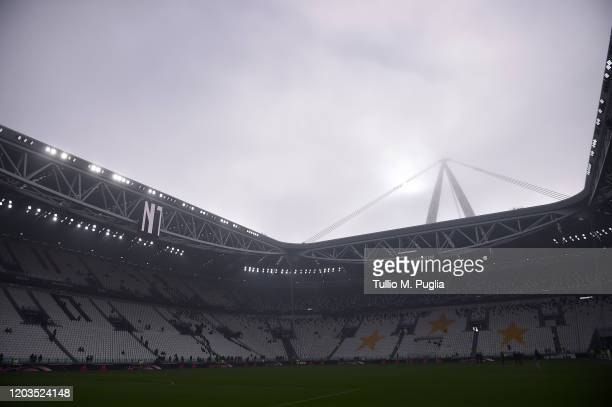 Generic view inside of the stadium before the Serie A match between Juventus and ACF Fiorentina at Allianz Stadium on February 02, 2020 in Turin,...