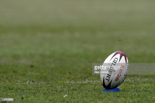 Generic view of a Rugby League ball during the Kelloggs Nutri-Grain Challenge Cup Semi-Final match between Leeds Rhinos and St Helens at the JJB...