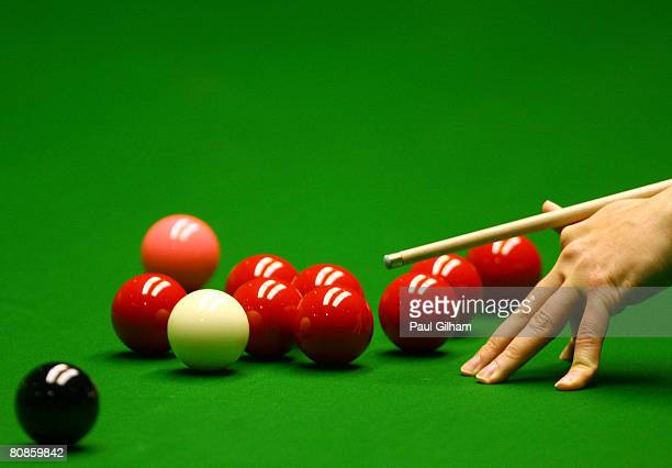 A generic view of Stephen Hendry of Scotland in action during his match against Ding Junhui of China during day seven of the 888com World Snooker...