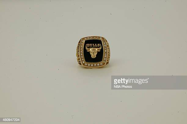 A generic view of the championship rings of the 19901991 Chicago Bulls at NBA Entertainment Studios in Secaucus New Jersey NOTE TO USER User...