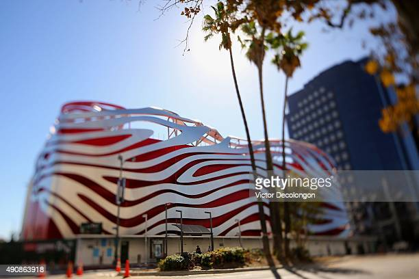 Generic view of the northside exterior of the Petersen Automotive Museum is seen on September 30, 2015 in Los Angeles, California. The Petersen...