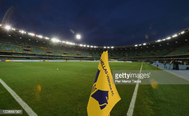 Generl view of the stadium prior the Serie A match between Hellas Verona FC and AS Roma at Stadio Marcantonio Bentegodi on September 19, 2020 in...
