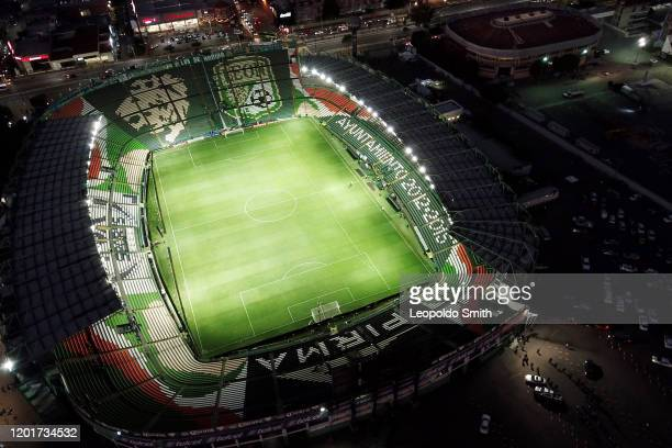 Generla view of Leon Stadium prior the round of 16 match between Leon and LAFC as part of the CONCACAF Champions League 2020 at Leon Stadium on...