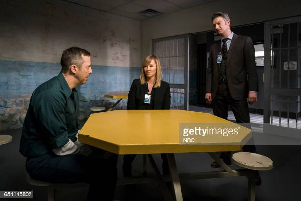 UNIT 'Genes' Episode 1815 Pictured Christopher Halladay as Mark Brown Kelli Giddish as Amanda Rollins Peter Scanavino as Dominick Carisi Jr