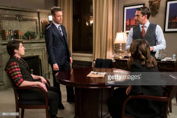 UNIT 'Genes' Episode 1815 Pictured Dalton Harrod as Will Stein Peter Scanavino as Dominick Carisi Jr Raul Esparza as ADA Rafael Barba