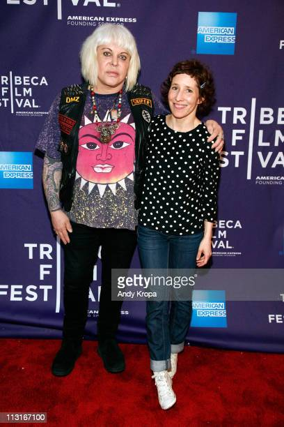 Genesis Breyer POrridge and Marie Losier attend the premiere of The Ballad of Genesis and Lady Jaye during the 2011 Tribeca Film Festival at AMC...