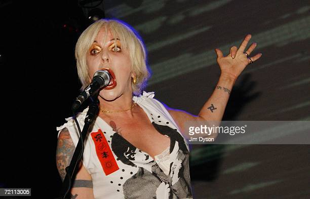 Genesis Breyer POrridge of Psychic TV performs at the Astoria on October 7 2006 in London England