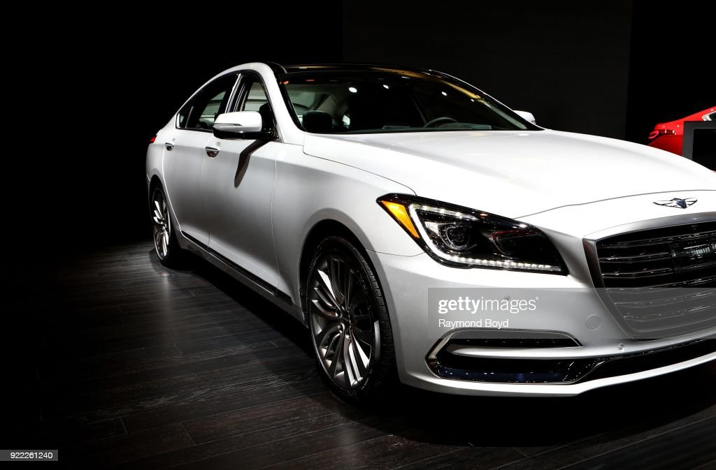 Genesis G80 is on display at the 110th Annual Chicago Auto Show at McCormick Place in Chicago, Illinois on February 9, 2018.