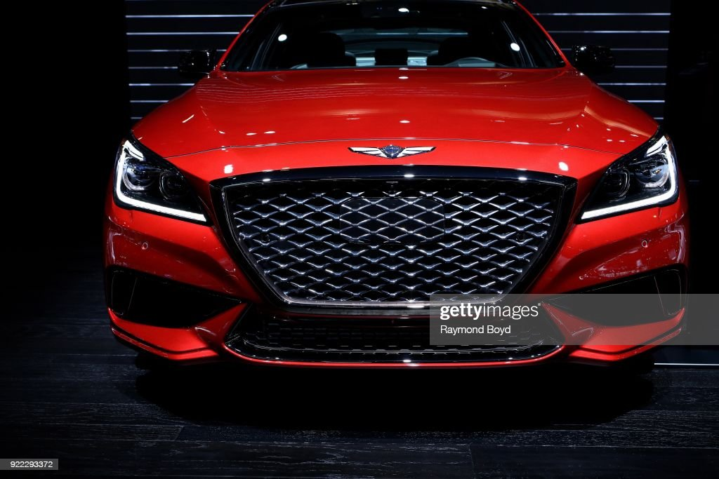 Genesis G80 Sport is on display at the 110th Annual Chicago Auto Show at McCormick Place in Chicago, Illinois on February 9, 2018.