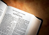 Genesis in the KJV Bible on Parchment Paper