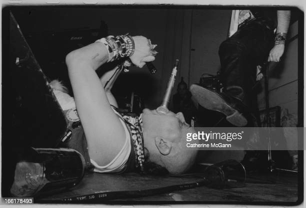 Genesis POrridge performs live with Psychic TV at The World on OCTOBER 31 1988 in New York City New York
