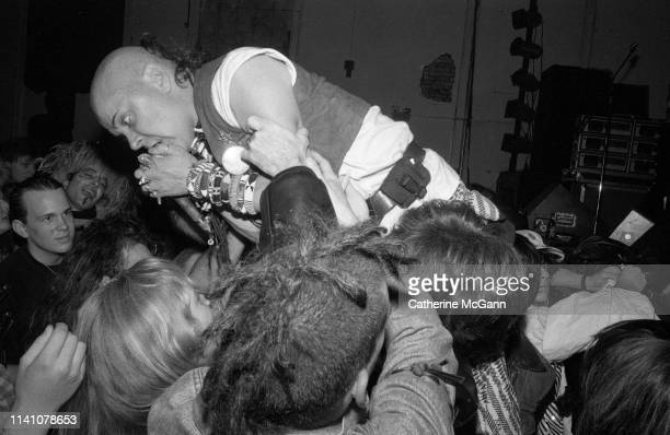 Genesis POrridge performs live with Psychic TV at The World on October 31st1988 in New York City New York
