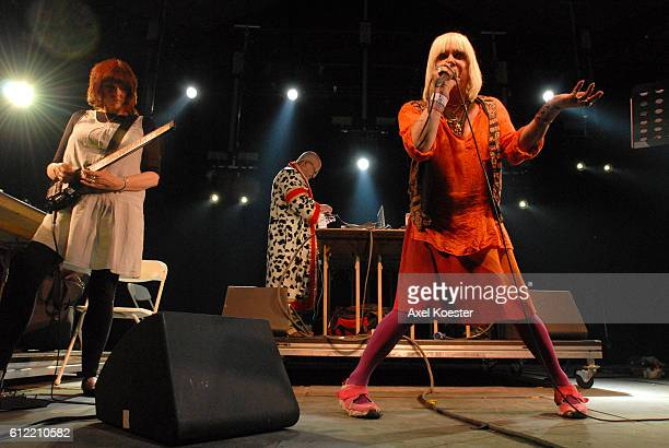 Genesis POrridge with Throbbing Gristle performs at the Coachella Valley Music Arts Festival in Indio