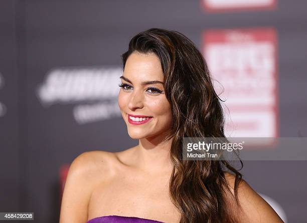 Genesis Rodriguez arrives at the Los Angeles premiere of Big Hero 6 held at the El Capitan Theatre on November 4 2014 in Hollywood California