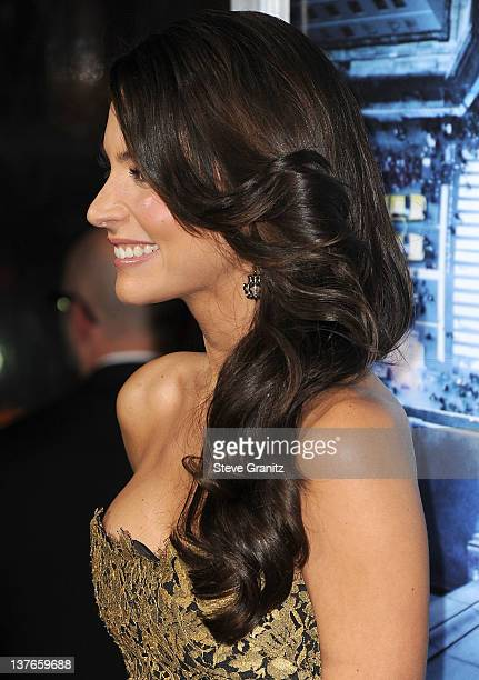 Genesis Rodriguez attends Man On A Ledge Los Angeles Premiere at Grauman's Chinese Theatre on January 23 2012 in Hollywood California