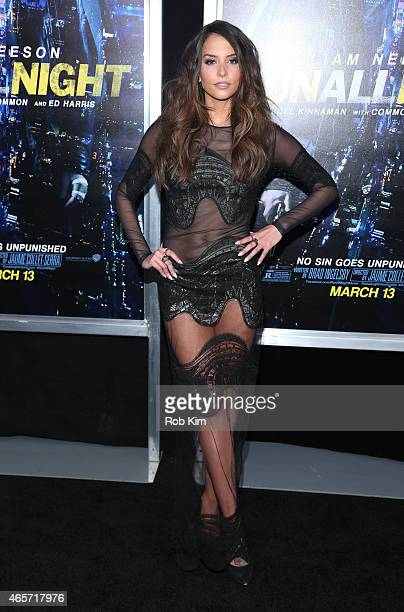 Genesis Rodriguez attends Run All Night New York premiere at AMC Lincoln Square Theater on March 9 2015 in New York City