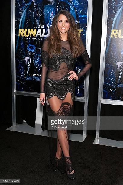 Genesis Rodriguez attends the Run All Night New York Premiere at AMC Lincoln Square Theater on March 9 2015 in New York City