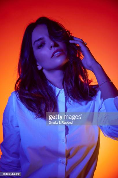 Genesis Rodriguez from Disney's 'Big Hero 6' poses for a portrait at the Getty Images Portrait Studio powered by Pizza Hut at San Diego 2018 Comic...
