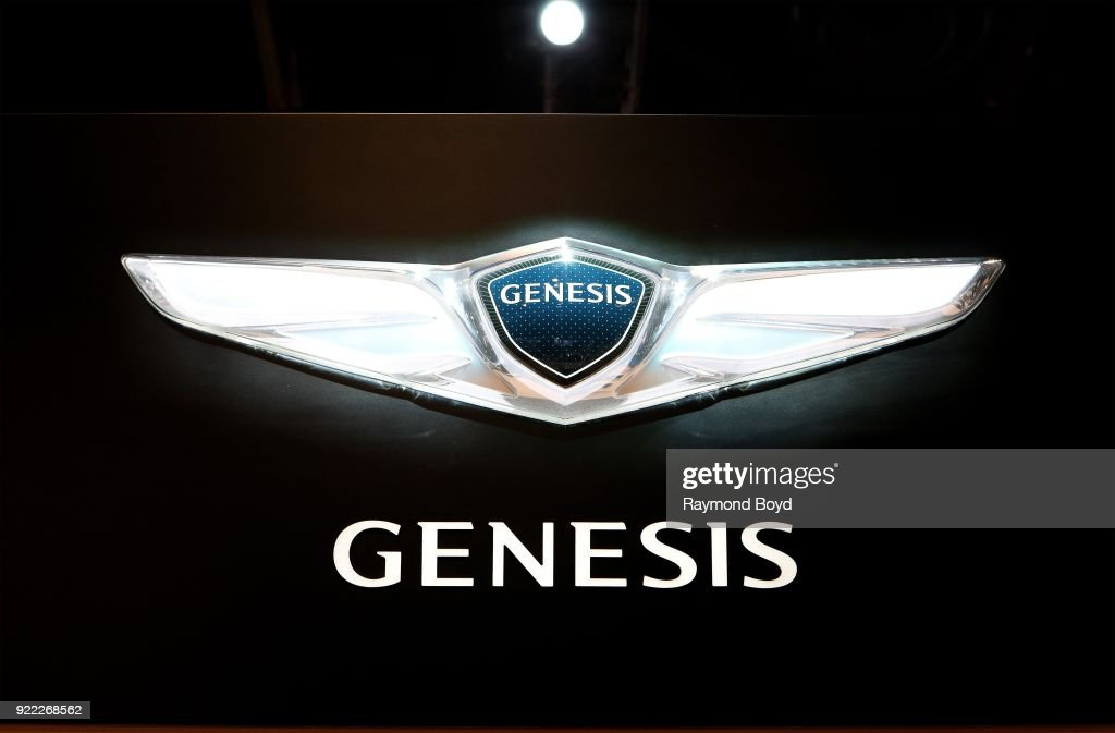 Genesis signage is on display at the 110th Annual Chicago Auto Show at McCormick Place in Chicago, Illinois on February 9, 2018.