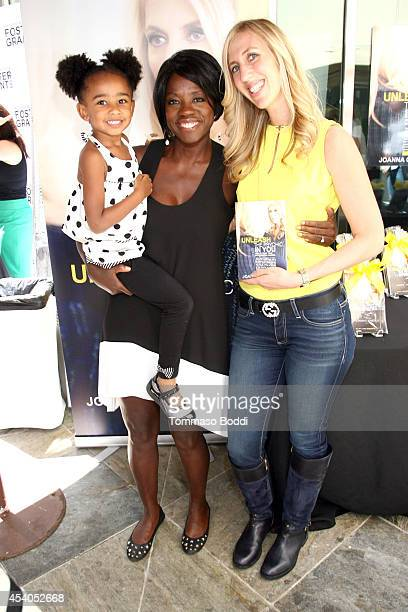 Genesis Tennon actress Viola Davis and author Joanna Garzilli attend the GBK Productions Luxury Lounge honoring the best in TV held at LErmitage on...