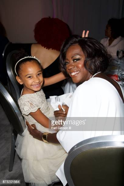 Genesis Tennon and mother/actress Viola Davis attend the 11th Annual Just Like My Child Foundation Gala at SLS Hotel at Beverly Hills on November 11...