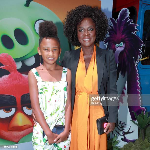 Genesis Tennon and Viola Davis attend the Premiere of Sony's The Angry Birds Movie 2 on August 10 2019 in Los Angeles California