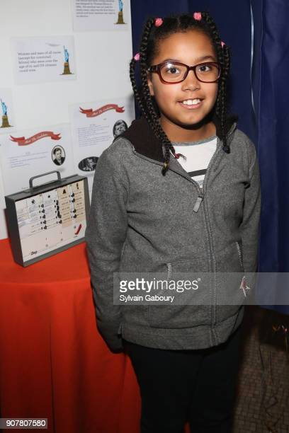 Genessys Cabrera attends DiMenna Children's History Museum Family Benefit Party 2018 on January 20 2018 in New York City