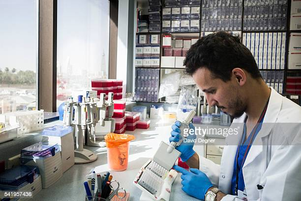 Genetics researchers at the research center at King Faisal Specialist Hospital and Research Center on April 14 2016 in Riyadh Saudi Arabia