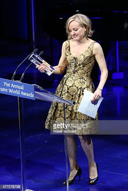 Geneva Carr during the The 71st Annual Theatre World Awards presentation at The Lyric Theatre on June 1 2015 in New York City