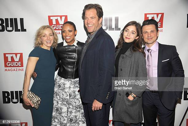 Geneva Carr Jaime Lee Kirchner Michael Weatherly Annabelle Attansio and Freddie Rodriguez attend TV Guide Magazine Celebrates CBS' Michael Weatherly...