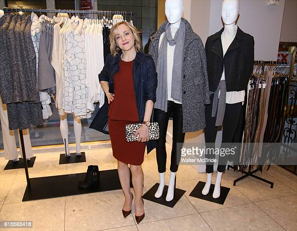 Geneva Carr wearing Ann Taylor attends 'Waitress' partners with Ann Taylor for an InStore discussion at Ann Taylor Rockefeller Center on October 18...