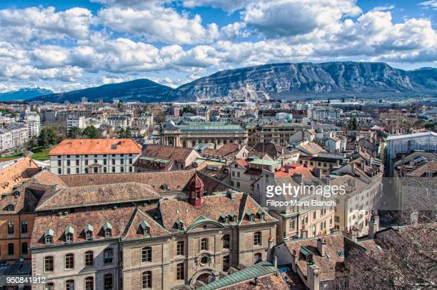 geneva old town - geneva switzerland stock pictures, royalty-free photos & images