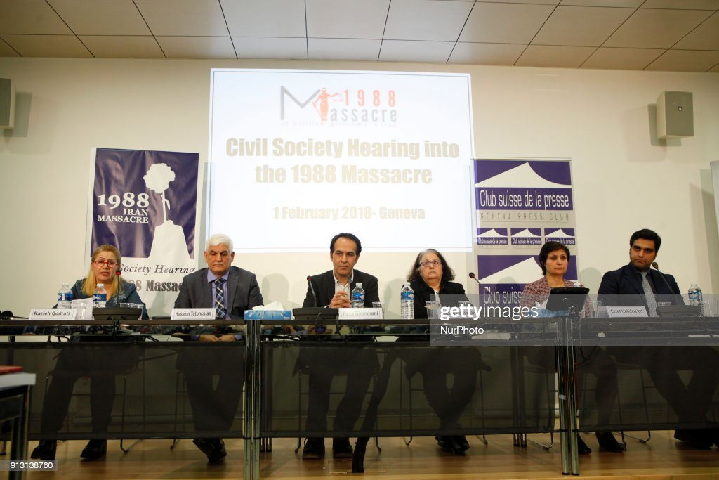 Civil society hearing into the 1988 massacre in Iran : News Photo