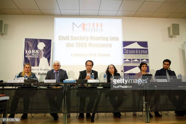 Geneva Switzerland On1 February 2018 at Geneva Press club a civil society hearing in Geneva heard witnesses and legal experts and offered an...