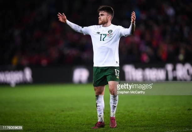 Geneva , Switzerland - 15 October 2019; Aaron Connolly of Republic of Ireland during the UEFA EURO 2020 Qualifier match between Switzerland and...