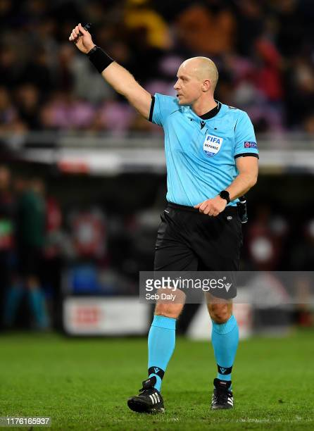 Geneva , Switzerland - 15 October 2019; Referee Szymon Marciniak during the UEFA EURO 2020 Qualifier match between Switzerland and Republic of...