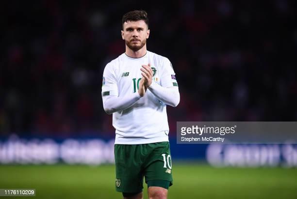 Geneva , Switzerland - 15 October 2019; Scott Hogan of Republic of Ireland following the UEFA EURO 2020 Qualifier match between Switzerland and...