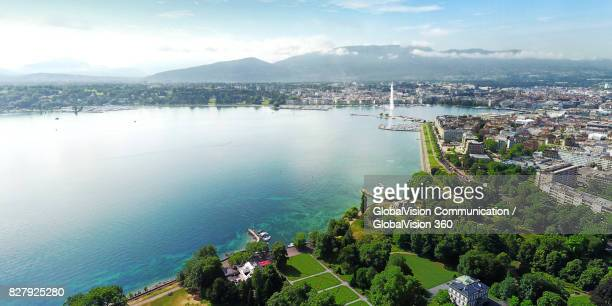 Geneva's City View from Perle du Lac Park