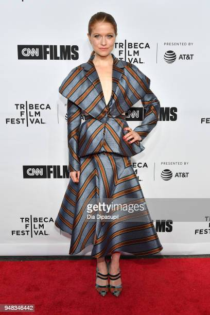 Genevieve Angelson attends the opening night gala of Love Gilda during the 2018 Tribeca Film Festival at Beacon Theatre on April 18 2018 in New York...