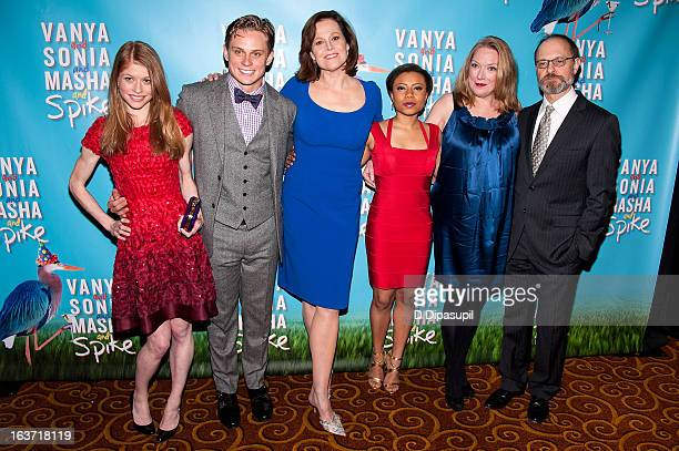 Genevieve Angelson Billy Magnussen Sigourney Weaver Shalita Grant Kristine Nielsen and David Hyde Pierce attend the 'Vanya And Sonia And Masha And...