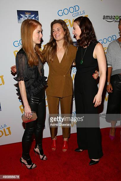 Genevieve Angelson Grace Gummer Erin Darke attend Good Girls Revolt preview night screening NYC hosted by TriStar Television at Roxy Hotel on...