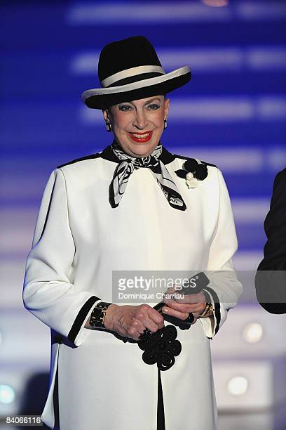 Genevieve de Fontenay, President of Miss France Committee attends the Miss France Pageant 2009 on December 6, 2008 at Le Puy du Fou, France