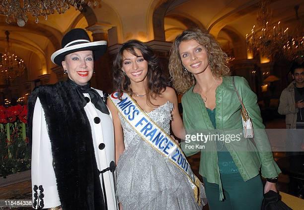 Genevieve de Fontenay Rachel Legrain Trapani Miss France 2007 and Sylvie Tellier