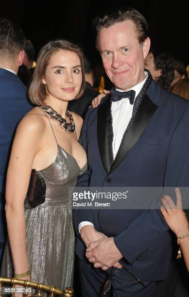 Genevieve Gaunt and Alex Jennings attend the London Evening Standard Theatre Awards 2017 after party at the Theatre Royal Drury Lane on December 3...