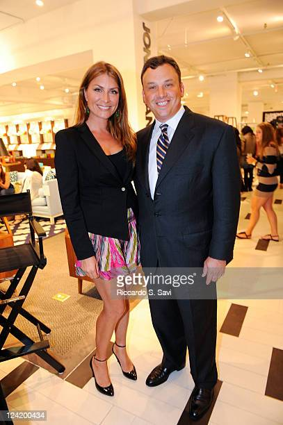 Genevieve Gorder and Brendan Hoffman attends Fashion Night Out at Lord Taylor on September 8 2011 in New York City