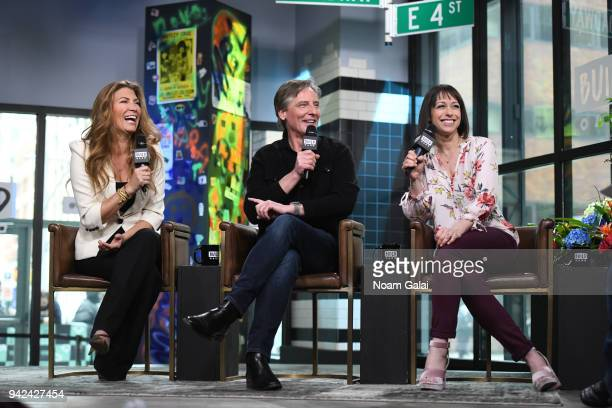 Genevieve Gorder Doug Wilson and Paige Davis visit Build Series to discuss 'Trading Spaces' at Build Studio on April 5 2018 in New York City